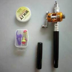 1.4M Fishing Rod Reel Combo Set Mini Telescopic Pole Baitcas