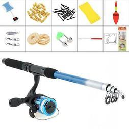 1.8m Fishing Rod Reel Line Combo Full Kits Spinning Reel Pol