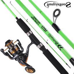 Sougayilang 120cm Spinning Fishing Rod Reel Ultralight ABS R