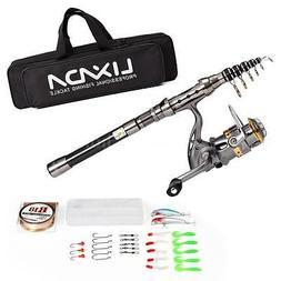 150-210cm Spinning Fishing Rod And Reel Combo Package Saltwa