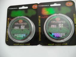 2 Reels of Ardent Gliss Supersmooth Monotex Line Green 150yd