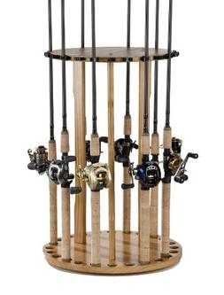 Organized Fishing Spinning Floor Rack for Fishing Rod Storag