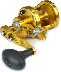 AVET 2-Speed 6.1 & 4.1 Reel, Gold, 300-30 lb