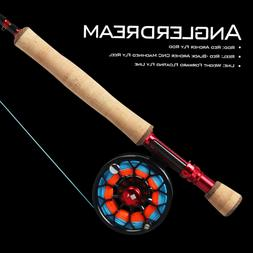 8WT Fly Rod Combo 9FT Fly Fishing Rod CNC Machined Fly Reel