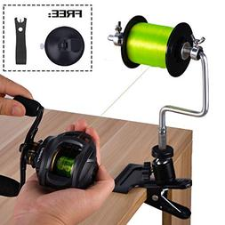 FISHINGSIR Aluminum Fishing Line Spooler System with Clamp a