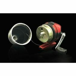 Authentic Built-In Type Spincast Fishing Reel Red