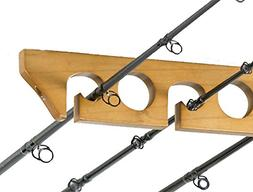 Organized Fishing Solid Pine Horizontal Ceiling Rack for Fis