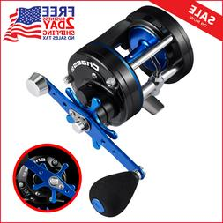 chaos round baitcasting reel reinforced metal body