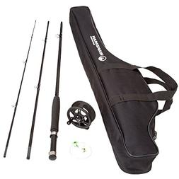 Wakeman Charter Series Fly Fishing Combo with Carry Bag - Bl