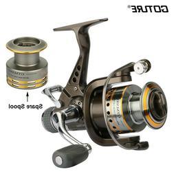 Goture Dual Brake Spinning Fishing Reel 7+1BB 5.0:1 Gear Rat