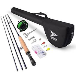 KastKing Emergence Fly Fishing Combo - 4 Piece Graphite Fly