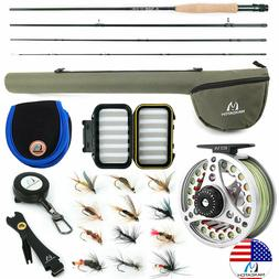 Extreme Fly Fishing Combo Kit 3/5/6/8 Weight, Starter Fly Ro