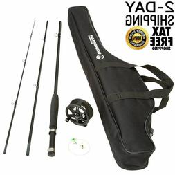 Fishing Fly Rod and Reel Combo With Carrying Case 3 Piece 8
