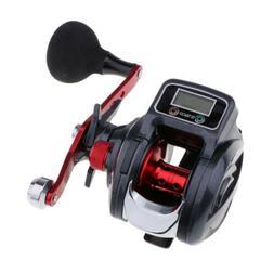 Fishing Line Counter Reel Digital 9+1 Ball Bearings Baitcast