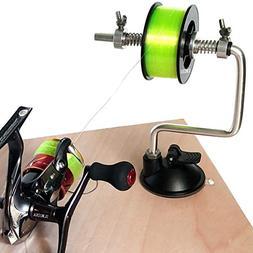 SLMOZKA Fishing Line Spooler Silver Reel Winder Spool Tackle