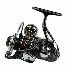Sougayilang Fishing Reel, 12+1BB Light Smooth Metal Spinning