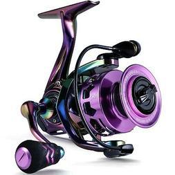 Sougayilang Fishing Reel, Colorful Ultralight Spinning Reels