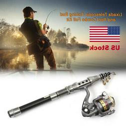 Fishing Rod And Reel Combo Full Kit Spinning Fishing Reel Ge