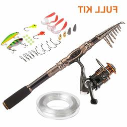 Fishing Rod and Reel Combos Carbon Telescopic Fishing Pole R