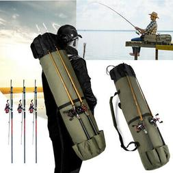 Fishing Rod Case Portable Outdoor Tackle Reel Storage Organi