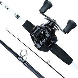 Fishing Rod Combo 1.75m 3 Section Carbon Casting 12 1BB Bait