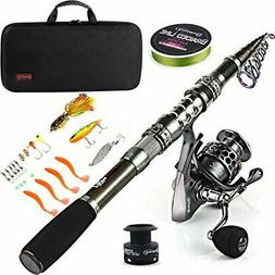 Sougayilang Fishing Rod Combos with Telescopic Fishing Pole
