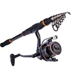 Sougayilang Fishing Rod Reel Combos Carbon Telescopic Fishin