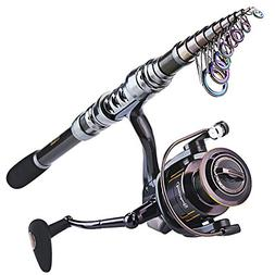 Sougayilang Fishing Rod and Reel Combos- Carbon Telescopic T