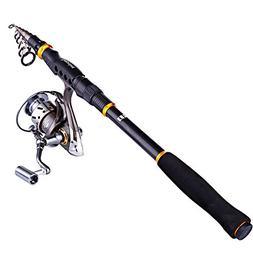 Sougayilang Fishing Rod and Reel Combos, Portable Telescopic