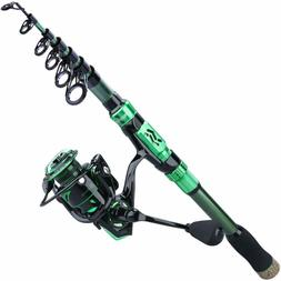 Sougayilang Fishing Rod Reel Combos,Portable Telescopic Fish