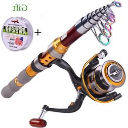 Fishing Telescopic Rod With Reel Fishing Line Sea Saltwater