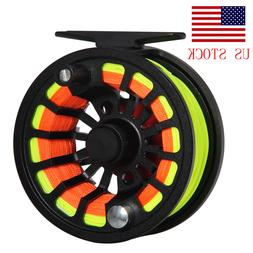 Fly Fishing Reel with Line Combo 3/4 5/6 7/8WT CNC Machined