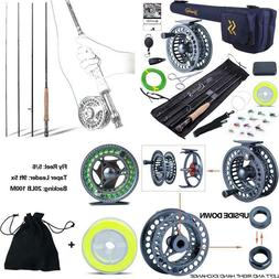 Sougayilang Fly Fishing Rod and Reel Combo, 4 Pieces Ultra L