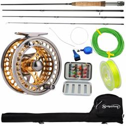 Sougayilang Fly Fishing Rod Reel Combos with Lightweight Por