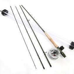 Fly Rod 9 FT 5 Weight 4 Section Fast Action Fly Fishing Rod