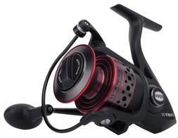 Penn FRCII8000C Fierce II Spinning, 8000C, Black/Red/Smoke