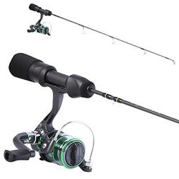 Sougayilang Ice Fishing Rod and Reel Combos Portable Light W