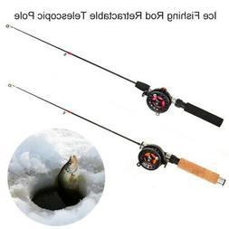 Ice Fishing Rod Retractable Reel Telescopic Pole Stick for F