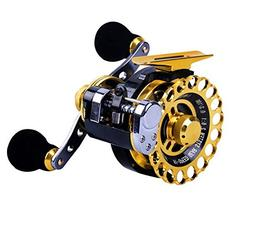 Inline Ice Fishing Reel Right/Left In Line Ice Reel with 8+1