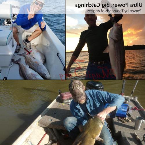 2x YOSHIKAWA Surf Spinning Fishing Reels Baitfeeder Left Hands