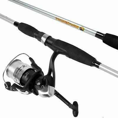 Spinning Rod and Reel Combo in Silver Metallic Finish