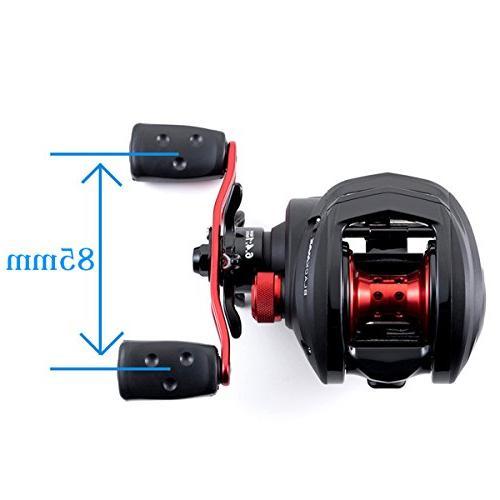 Abu 1365366 Max Profile 6.4: 1 Gear 5 Bearings, Retrieve Rate, 18Lb Max RH, Boxed