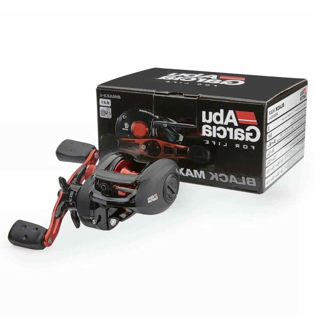 Abu Garcia 1365366 Black Max Low Profile Reel, 6.4: 1 Gear R