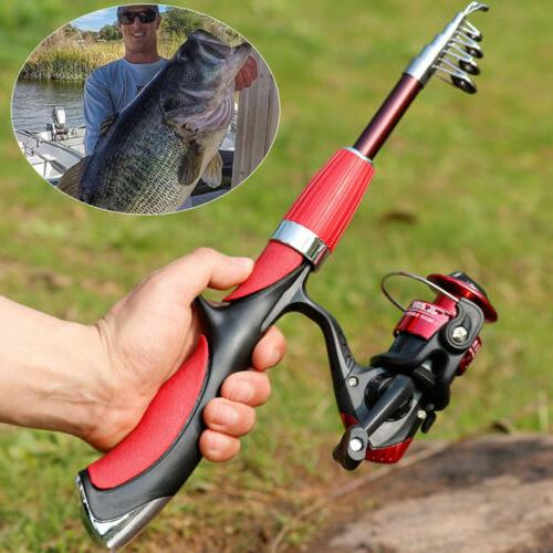Spinning Fishing Rod and Reel Set Carbon Ultra Light Fishing