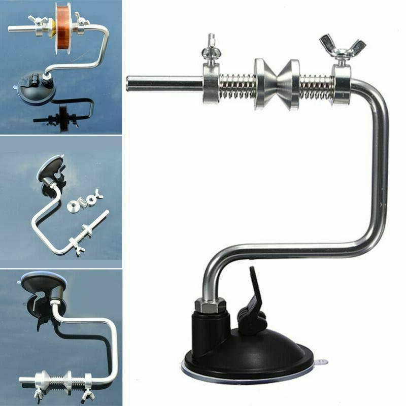 Fishing Line Reel Multi-rotate Metal Spool Holder Spooler Sy