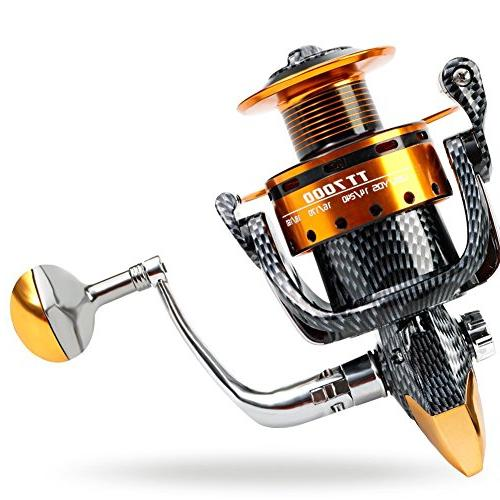 Burning Fishing Reels- 12+1 BB, Smooth Spinning Reels, Carbon and Freshwater