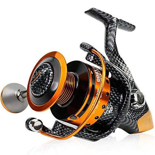 Burning Shark Reels- 12+1 BB, Smooth Carbon Drag, and Freshwater