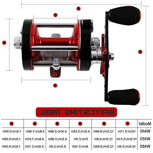 Sougayilang Fishing reels Baitcasting Reel Body & Drag-Warrior5000