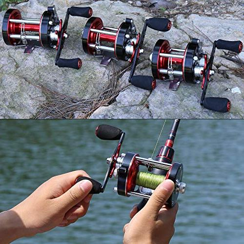 Baitcasting Reel Body & Drag-Warrior5000 Red