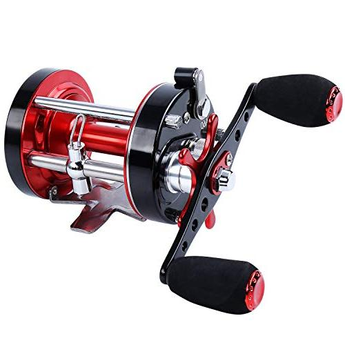 Sougayilang Fishing reels Baitcasting Conventional Reel Reinforced Body Supreme Drag-Warrior5000 Red